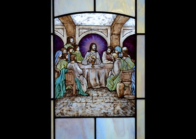 Religious Hand Painted Glass