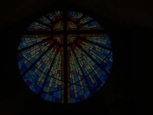 Faceted Window for First United Methodist Church of Crossville, TN by State of the Art Stained Glass Studio
