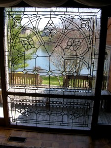 Leaded glass window by State of the Art Stained Glass Studio