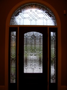 Leaded glass door by State of the Art Stained Glass Studio