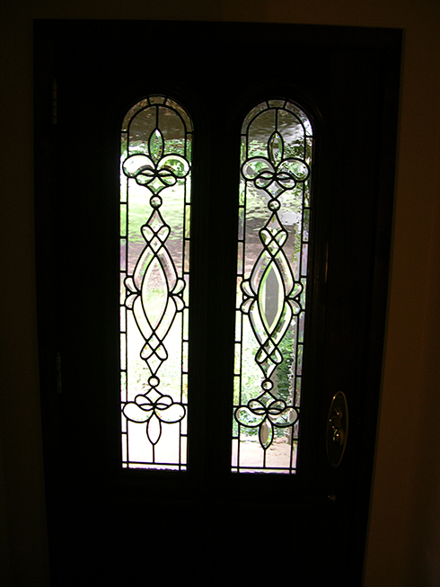 Residential Leaded Glass Door