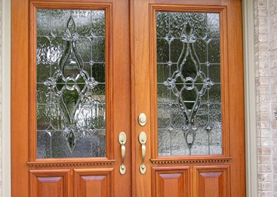 Residential Leaded Glass Door