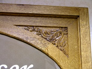 Custom wood work by State of the Art Stained Glass Studio
