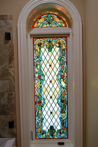Opalescent glass window by State of the Art Stained Glass Studio
