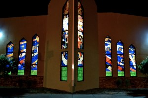 Religious Opalescent Window by State of the Art Stained Glass Studio
