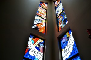 Stained glass window made by State of the Art in Knoxville, TN.